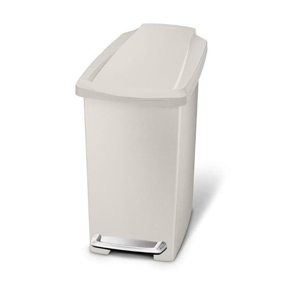 Krémový pedálový koš na odpadky simplehuman Gigi, 10 l