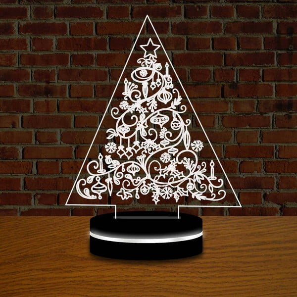 Lampa s 3D efektem Christmas no. 3