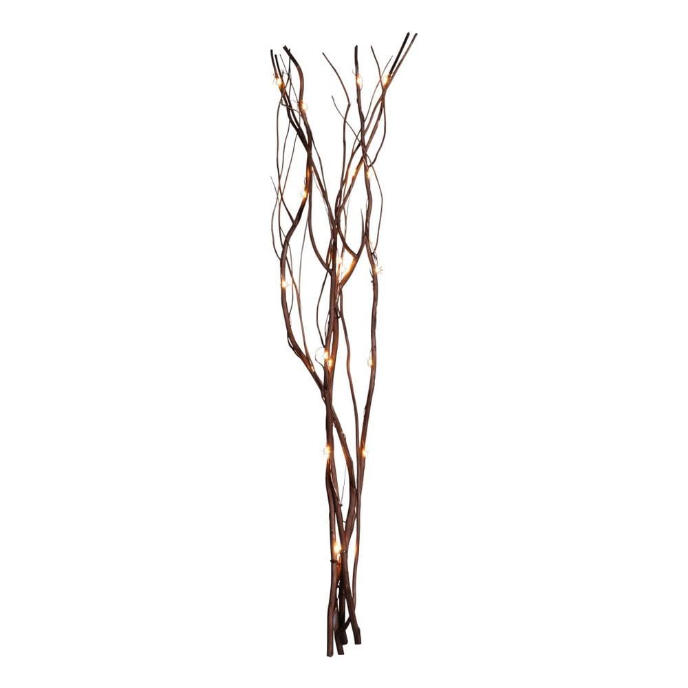 Hnědá svítící větev Best Season Willow, 90 žárovek