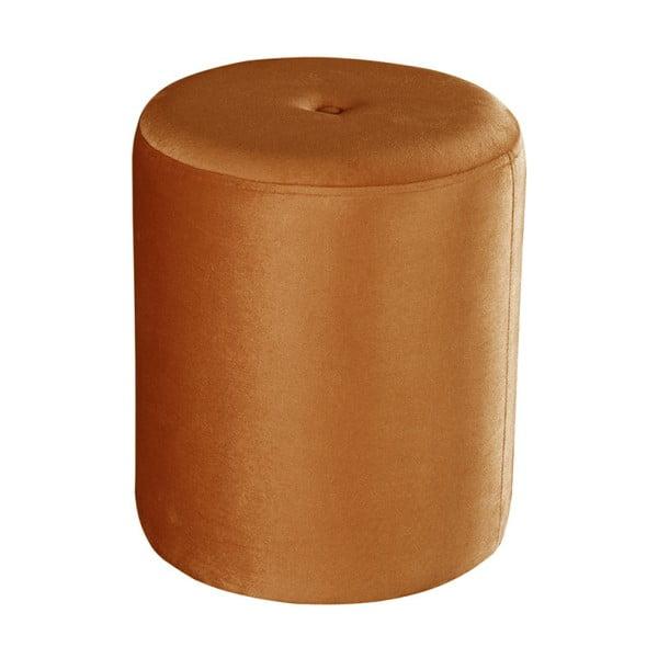 Oranžový puf JohnsonStyle Ellen Magic Velvet, ⌀ 40 cm