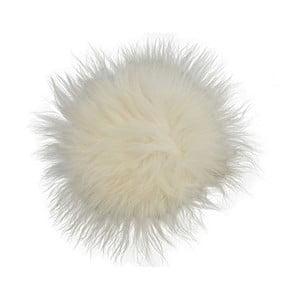 Pernă din blană cu fir lung pentru scaun White, 35 cm