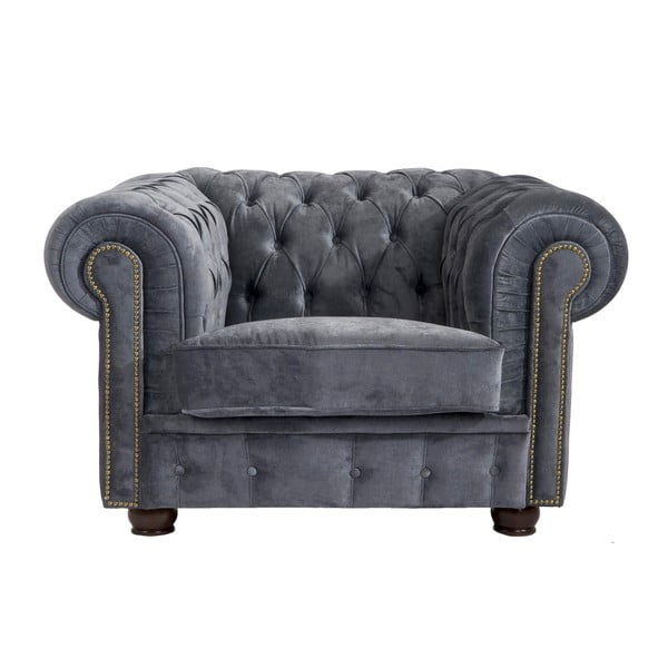 Norwin Velvet szürke fotel - Max Winzer