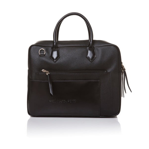 Kožená kabelka do ruky Marta Ponti Case, černá