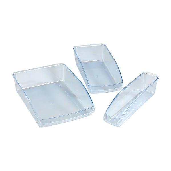 Sada 3 plastových organizérov do chladničky Wenko Fridge