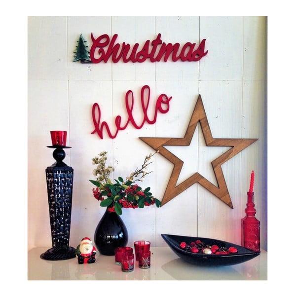 Christmas Star karácsonyi faldísz, 69 x 2 x 15 cm