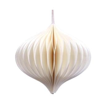 Decorațiune din hârtie pentru Crăciun Only Natural, lungime 10 cm, alb imagine