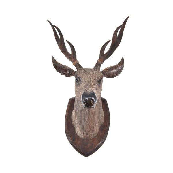 Teaková dekorace jelenní hlavy Erosi