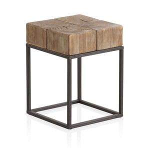 Măsuță auxiliară cu blat din lemn și picioare metalice Geese Robust, 33 x 33 cm