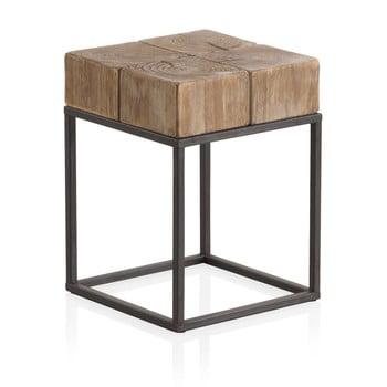 Taburet din lemn cu picioare metalice Geese Robust, 33 x 33 cm imagine