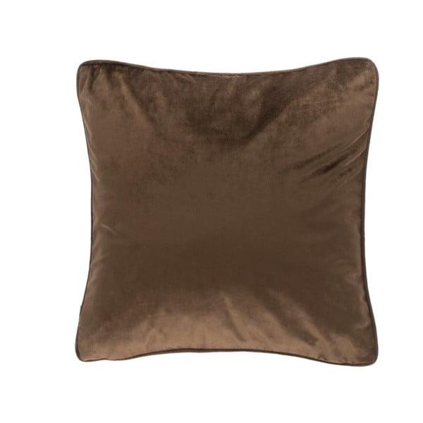 Ciemnobrązowa poduszka Tiseco Home Studio Velvety, 45x45 cm