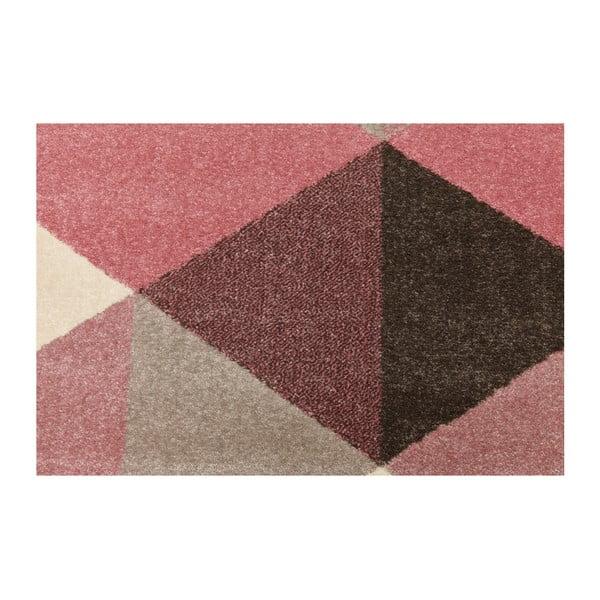 Koberec s růžovými detaily Kokoon Muoto, 160x230cm