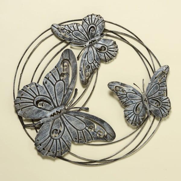 Nástěnná dekorace Butterflies, 58 cm