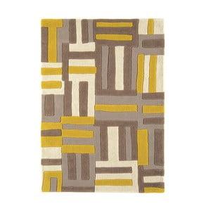 Vlněný koberec Matrix Code Yellow 120x170 cm