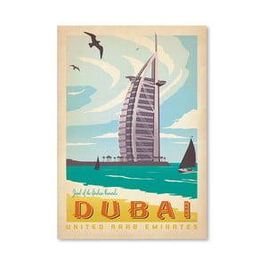 Plakát Americanflat Dubai, 42 x 30 cm