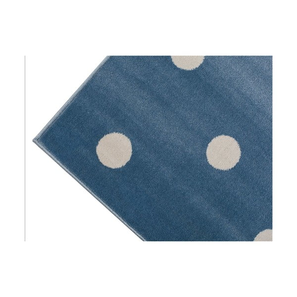 Modrý koberec s puntíky KICOTI Azure, 200 x 280 cm