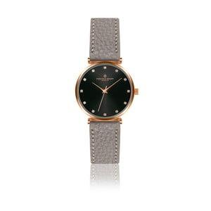 Dámské hodinky s šedým páskem z pravé kůže Frederic Graff Tess