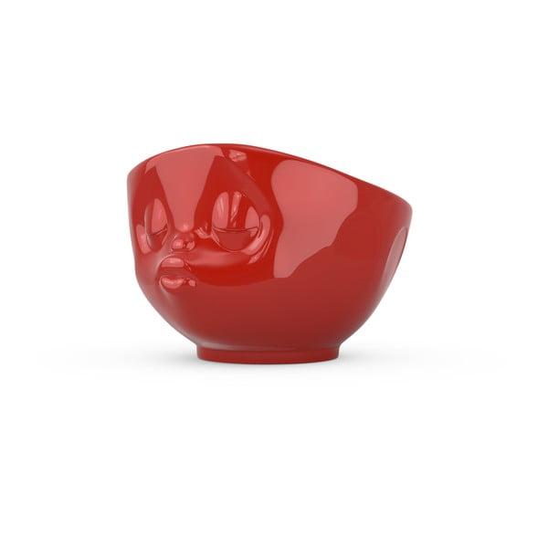 Líbající miska, červená