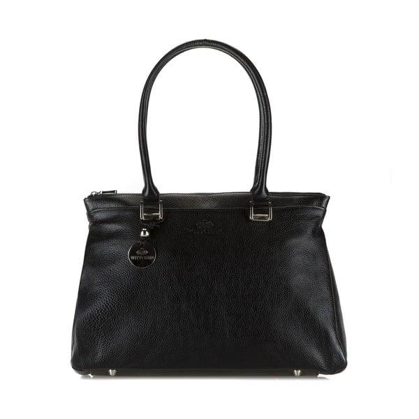 Kožená kabelka Comfort Black