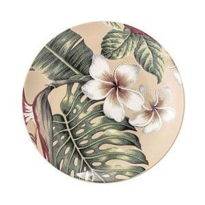 Keramický mělký talíř Bloomingville Aruba Jungle, ⌀20 cm