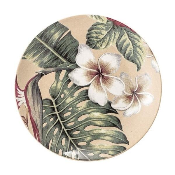 Aruba Jungle kerámia lapostányér, ⌀ 20 cm - Bloomingville