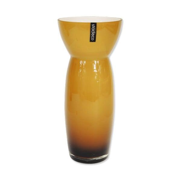 Skleněná váza Sapien, oranžová