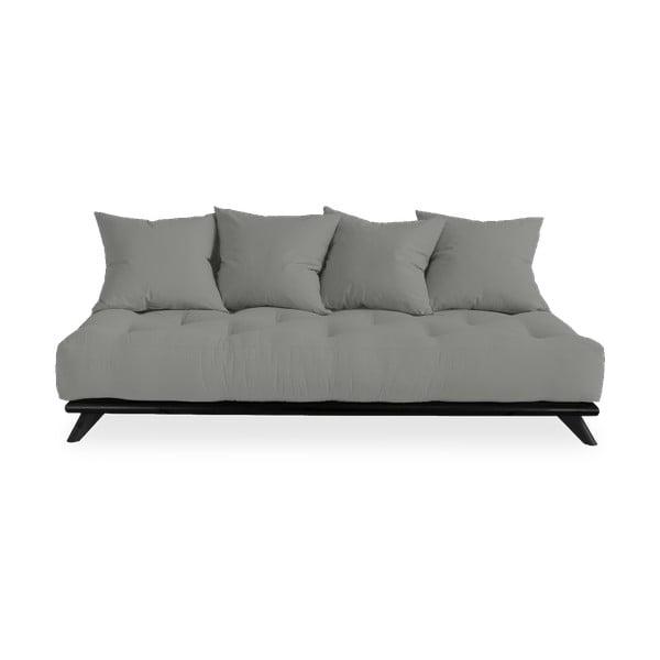 Sofa z szarym obiciem Karup Design Senza Black/Grey