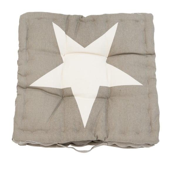 Polštář Clayre Star, 40x40 cm, hnědý
