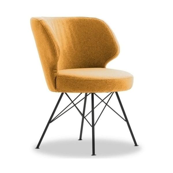Žlutá židle VIDA Living Erwan