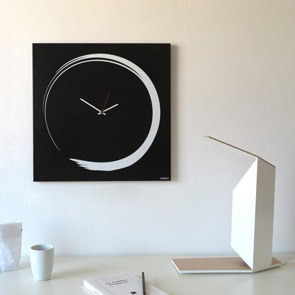Nástěnné hodiny dESIGNoBJECT.it Enso Clock Black,50x50cm