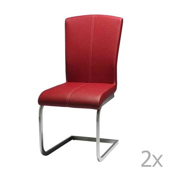 Sada 2 červených jídelních židlí Furnhouse Tolouse