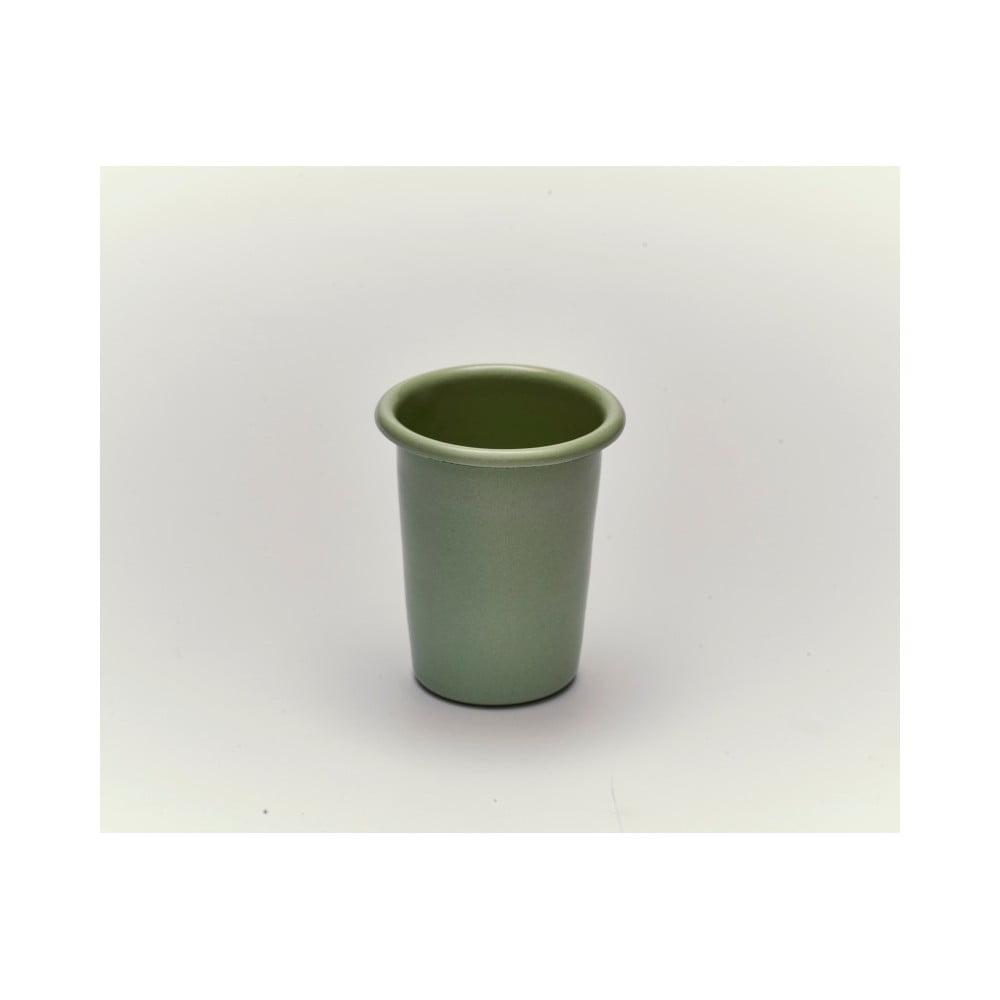 Zelený smaltovaný hrneček bez ouška Kapka Back To Basics Pastel, 250ml