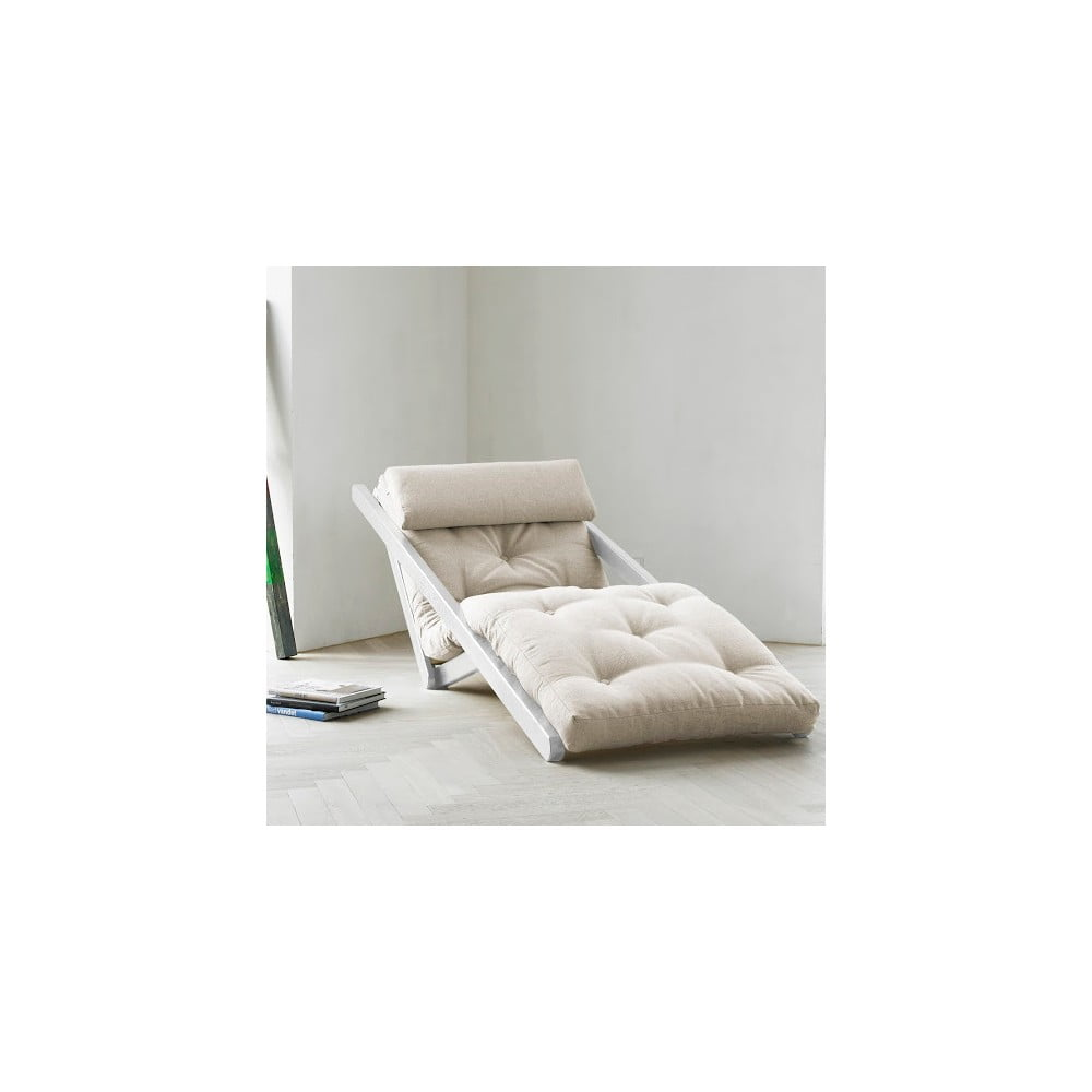Lenoška Karup Figo White/Natural, 70 cm