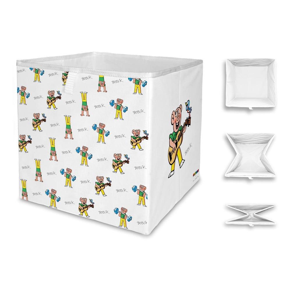 Skládací úložný box Čtyřlístek by Mr. Little Fox Tri Bobik, 32x32cm