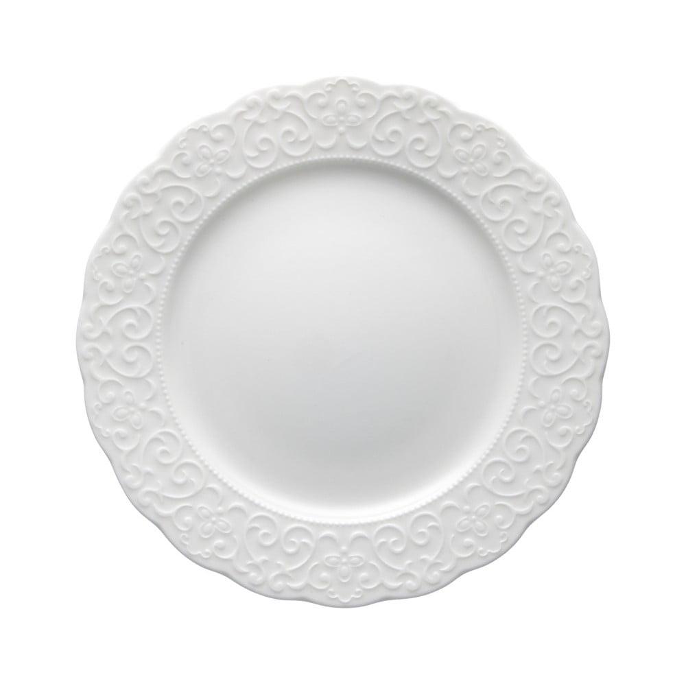 Bílý porcelánový talíř Brandani Gran Gala, ⌀21cm Brandani