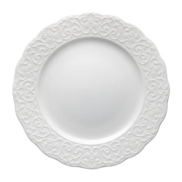 Bílý porcelánový talíř Brandani Gran Gala, ⌀21cm