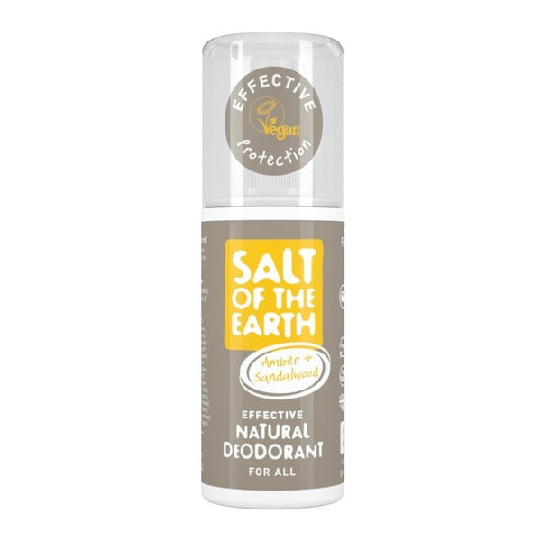 Spray deo natural Salt of the Earth Pure Aura Ambra Santal, 100 ml