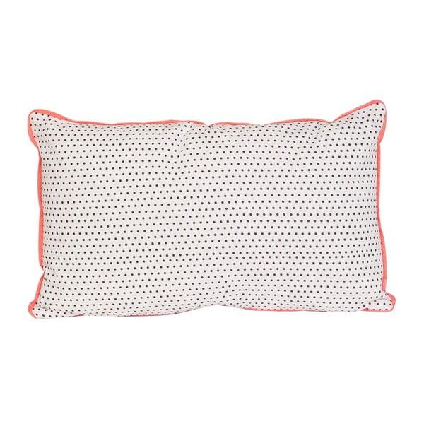 Polštář Dots Square Grey, 50x30 cm