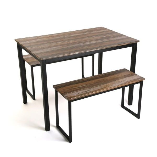 Komplet stołu i 2 ławkami Versa Blanca