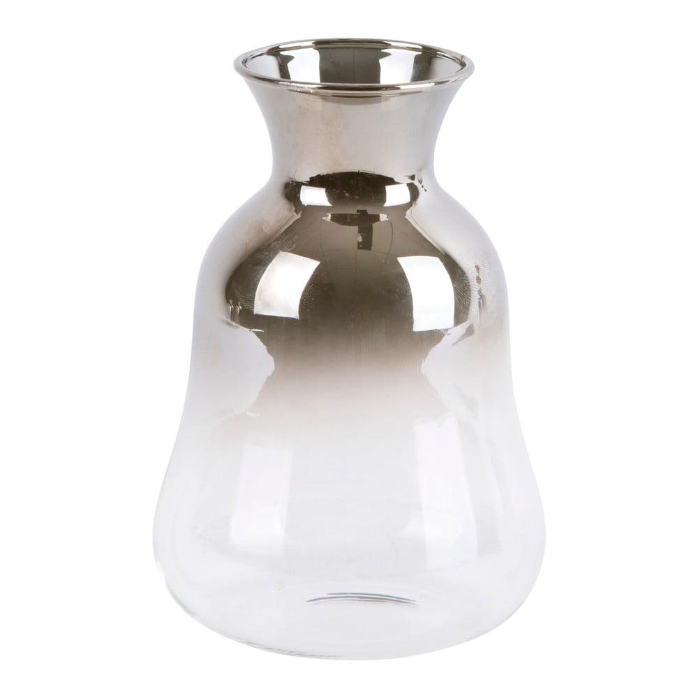 Skleněná malá váza PT LIVING Silver Fade, výška 12 cm