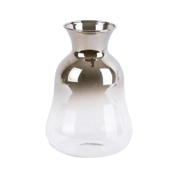 Vază mică din sticlă PT LIVING Silver Fade, înălțime 12 cm