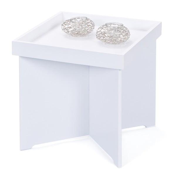 Bílý příruční stolek Interlink Egon