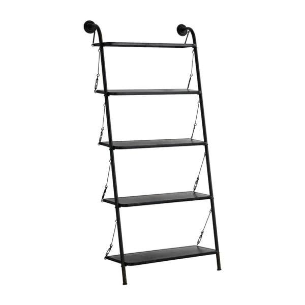 Čierny kovový rebrík s 5 stupienkami Geese Gerome