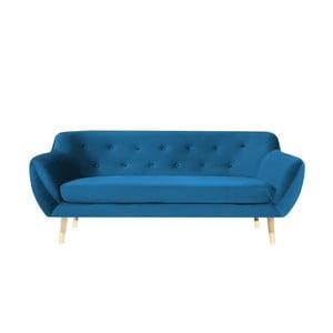 Canapea cu 3 locuri Mazzini Sofas Amelie, albastru