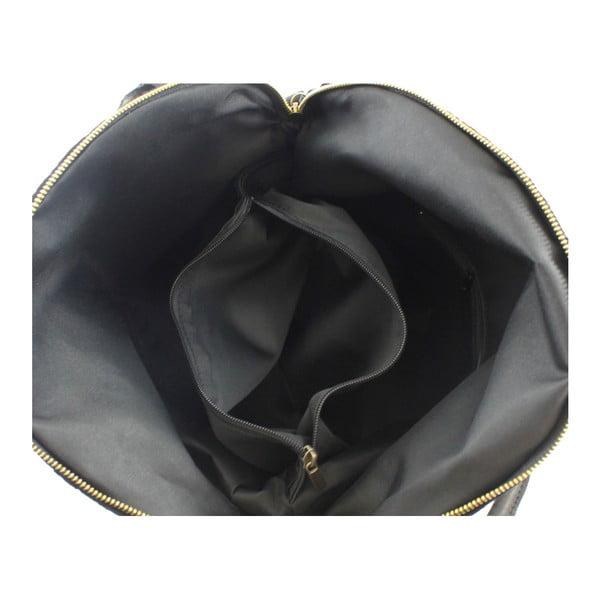 Černá kožená kabelka Chicca Borse City Look