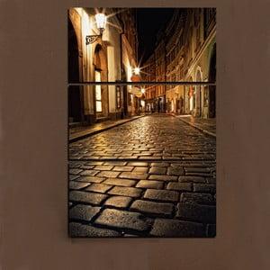 3dílný obraz Po chodníku