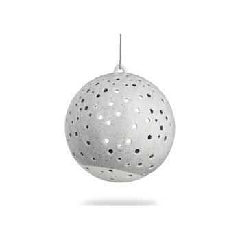 Sfeșnic suspendat din porțelan chinezesc pentru Crăciun Kähler Design Nobili, ⌀ 12 cm, gri de la Kähler Design