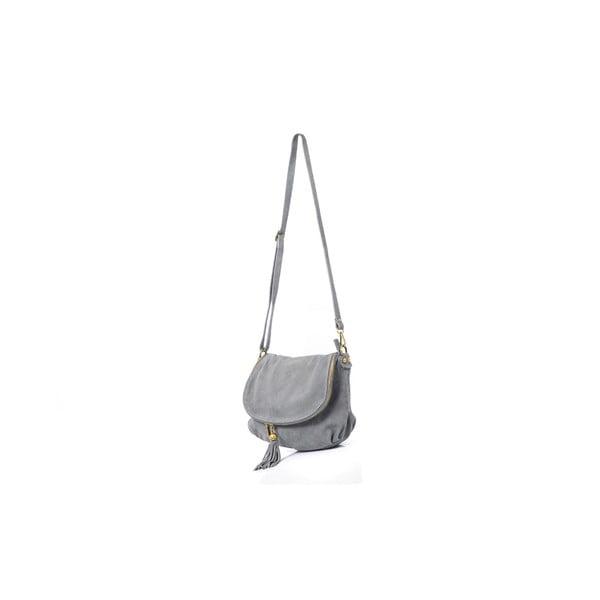 Kožená kabelka Louise, šedá