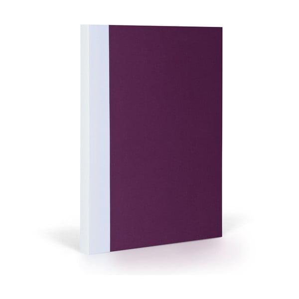 Zápisník FANTASTICPAPER XL Aubergine/White, řádkovaný