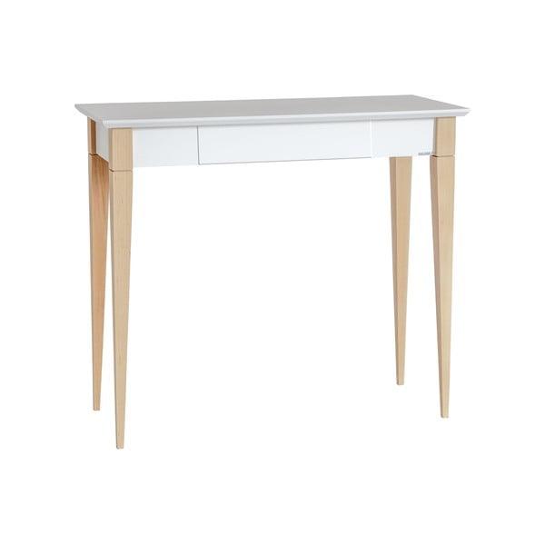 Bílý pracovní stůl Ragaba Mimo, šířka 85 cm