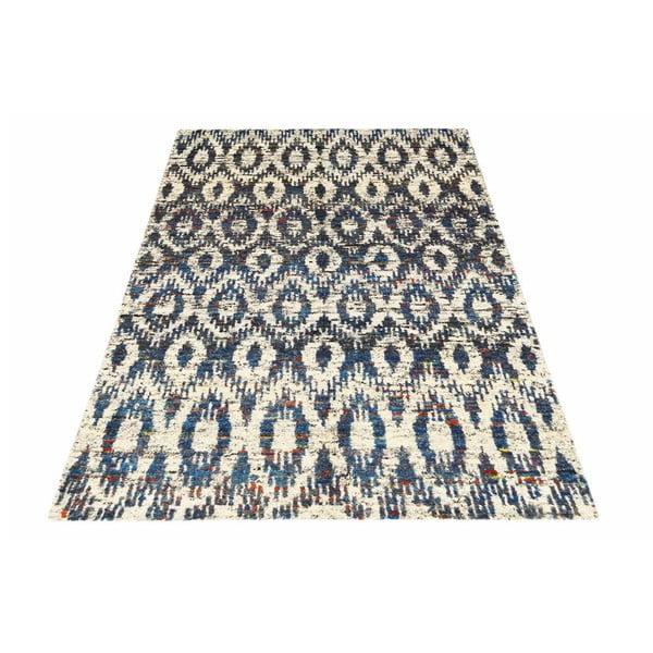 Vlněný koberec Ikat H7 Blue, 160x230 cm cm